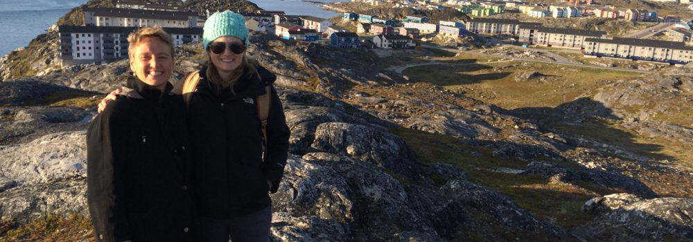 Dr. Lisa Adams with Ashley Dunkle '19 in Nuuk, Greenland.