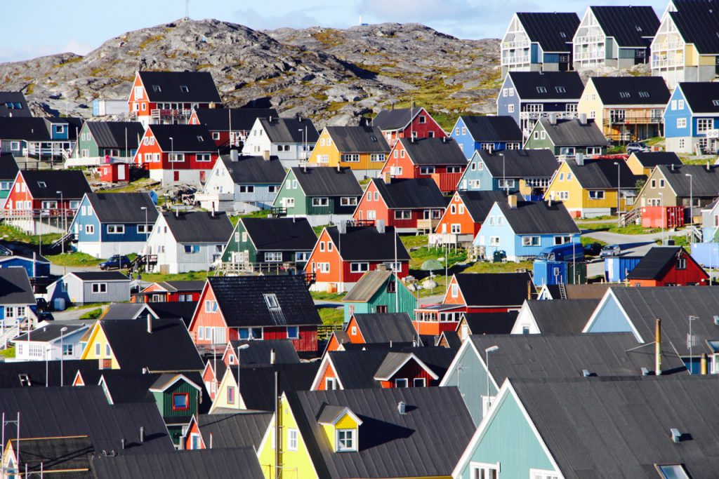 Colorful homes in Nuuk, Greenland