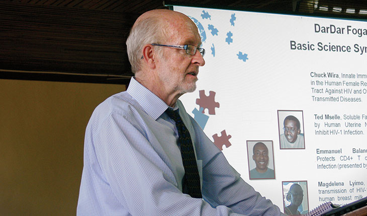 Ford von Reyn has led a long-term partnership with Muhimbili University in Tanzania that recently led to the creation of a new research institute.