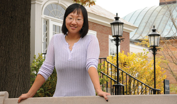 Medical student Mengyi Zha is working to expand access to health care for the poor in China. Photo by Jon Gilbert Fox.