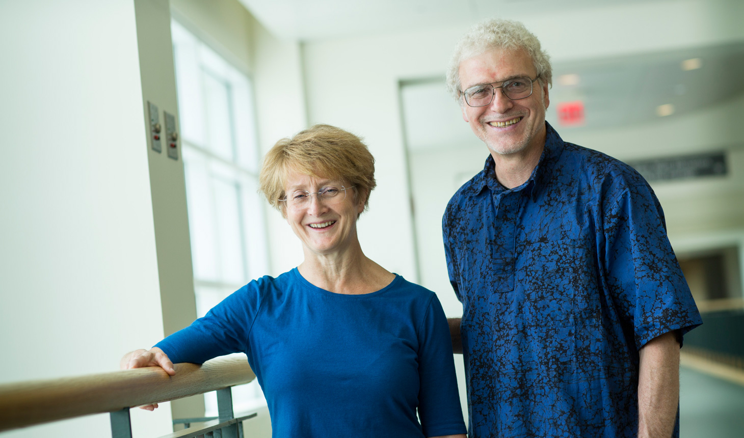 David J. Bzik, PhD, a professor of microbiology and immunology at the Geisel School of Medicine at Dartmouth, and Barbara Fox, a senior research associate of microbiology and immunology.