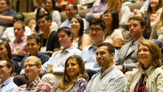 Members of the Geisel School of Medicine Class of 2018 at their first day of orientation.