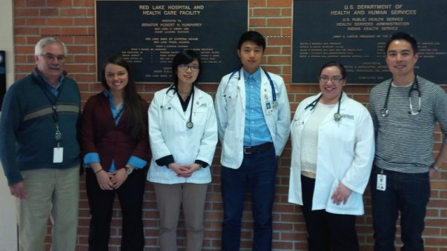 Geisel students at Red Lake Hospital