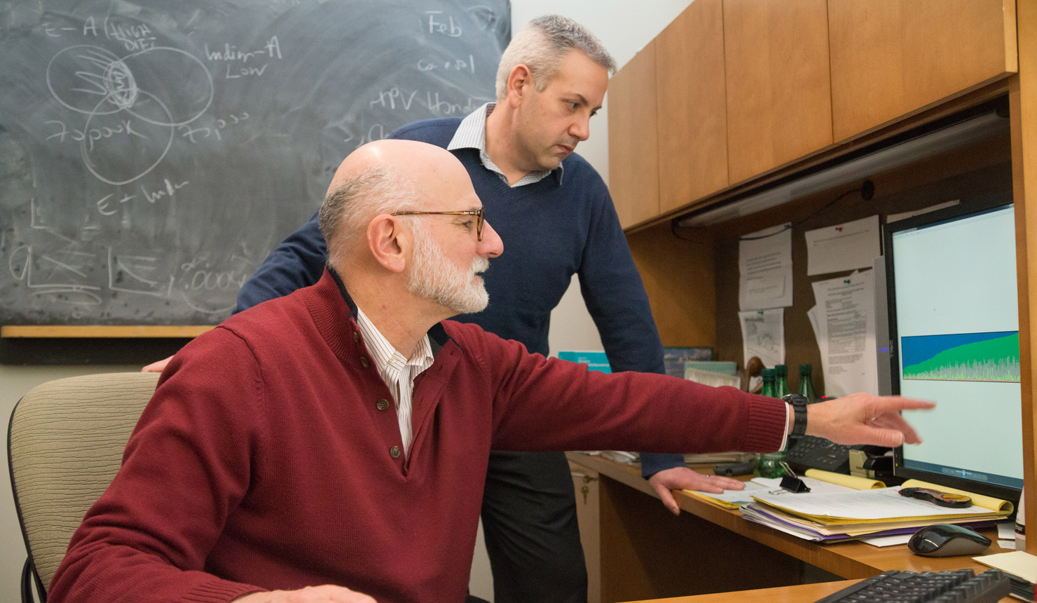 Scott Williams (left) and Carmen Marsit (right) are co-directors of $2.5-million Burroughs Wellcome Fund training grant that will promote collaboration between computational scientists and biomedical researchers.