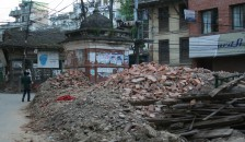 Many of the buildings in Kathmandu that survived the first quake collapsed when a 7.3 magnitude earthquake struck on May 12. Permanent shelter is an urgent need in the devastated country as the monsoon season approaches, says Geisel student Shreya Shrestha. (Photo by Shreya Shrestha)