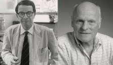 The endowment is named in honor of two luminaries from Dartmouth's medical school: Elmer Pfefferkorn, PhD (L), Emeritus Professor of Microbiology and Immunology, and Allan Munck, PhD (R), Emeritus Professor of Physiology and Neurobiology