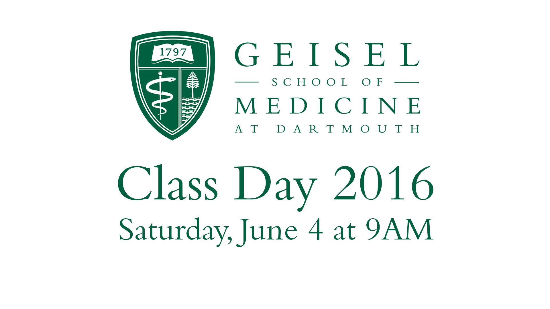 Class Day 2016 Livestream