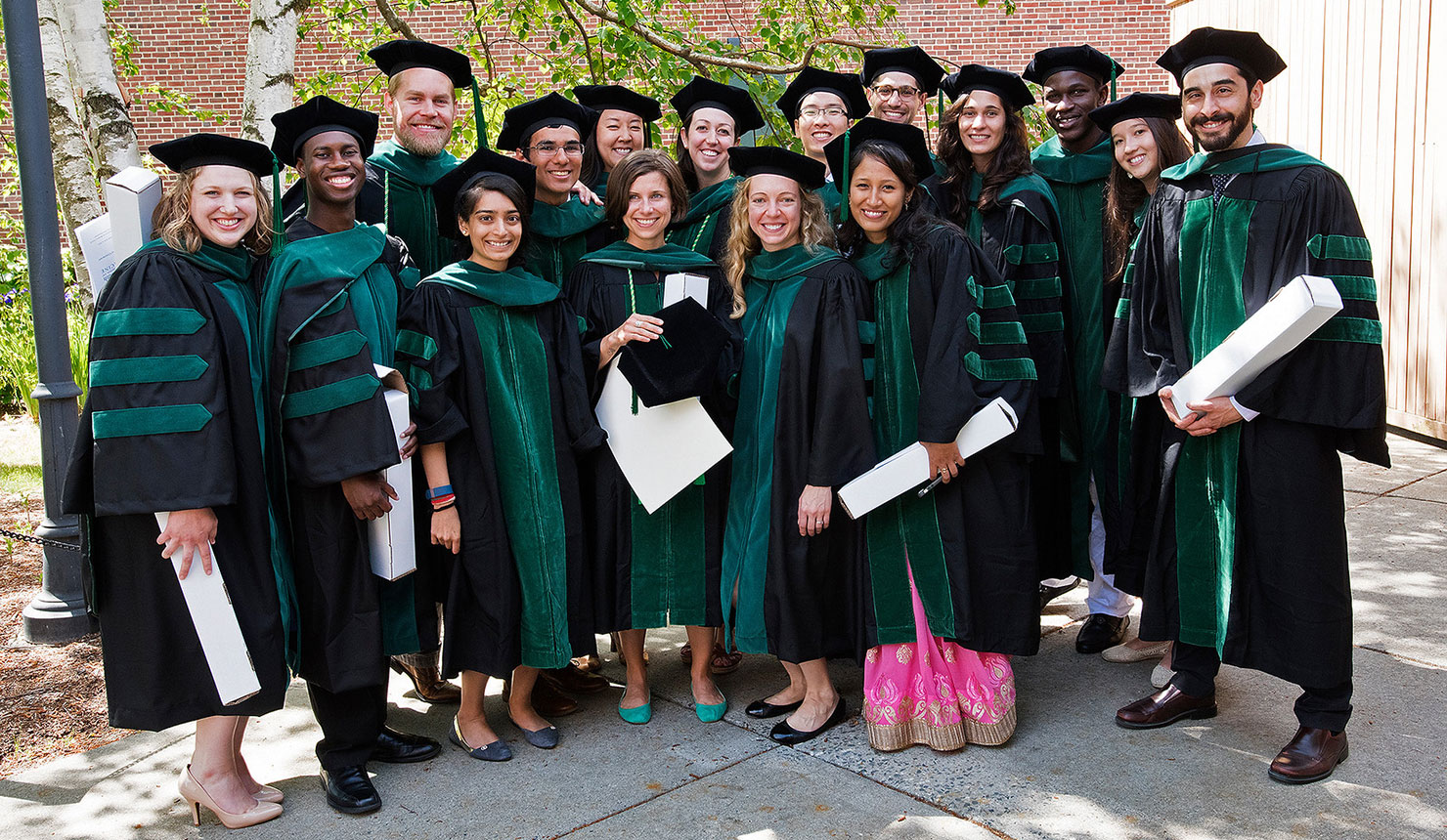 Some of the new Geisel grads celebrate after a memorable Class Day. (photo by Flying Squirrel)