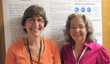 ICARE award winner Alexandra Howell, PhD (left), with longtime collaborator Susan Eszterhas, PhD.