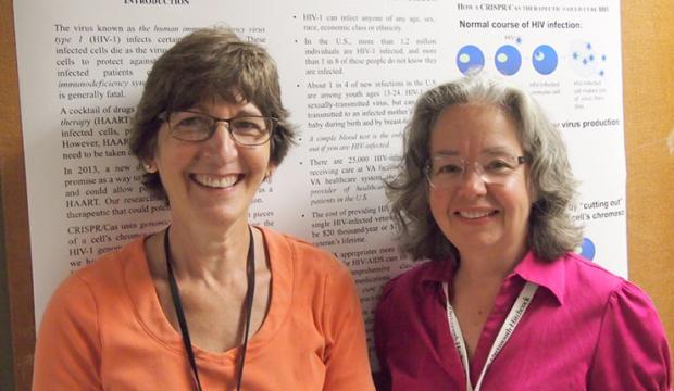 ICARE award winner Alexandra Howell, PhD (left), with longtime collaborator Susan Eszterhas, PhD.