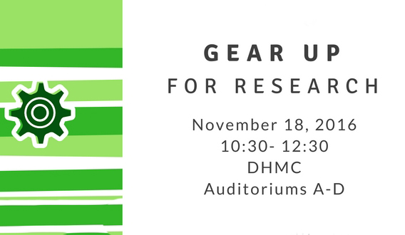 Gear Up for Research – November 18 at DHMC