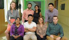 Top row, L-R: Megan Bunnell, Ahmad Dbouk, Sandy Rao, David Leander. Seated, L-R: Simrun Bal, Jordan Wong, Emily Dollar, Tommy Flynn.