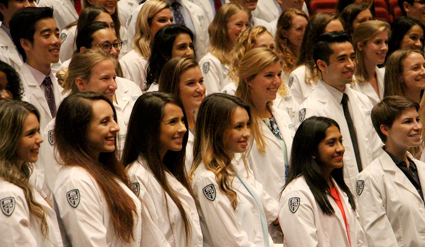 First-Year Medical Students Don Their White Coats