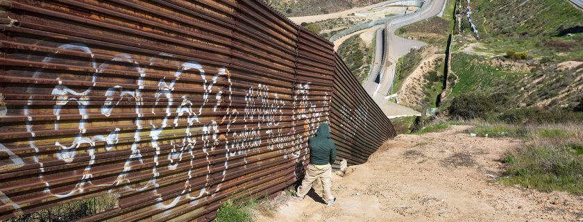 On the US-Mexican border in Tijuana, Mexico. (Source: Shutterstock.com)