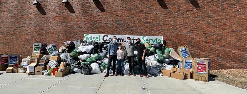 Geisel Students Collect a Record Amount of Clothing and Nonperishable Food Donations