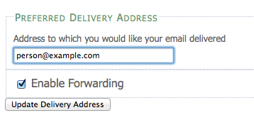 Enter your email, then click Update Delivery Address