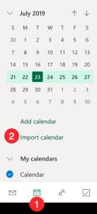 Select Import Calendar