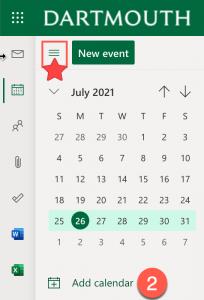 Illustrates the Add Calendar button in BWA